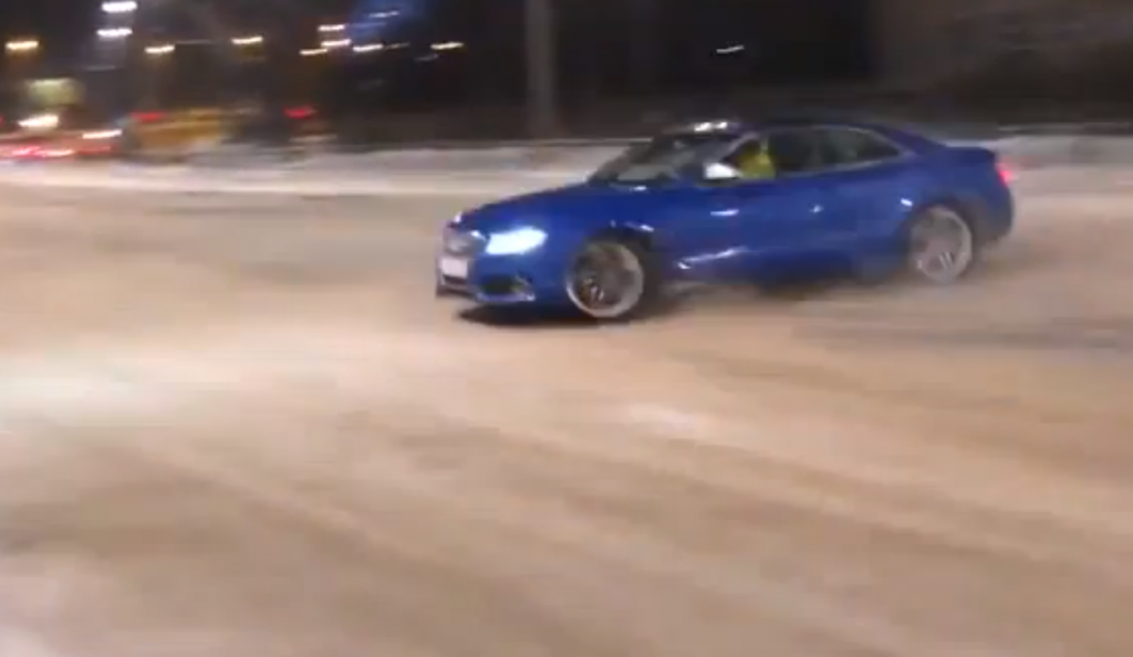 Audi Drifting In The Snow