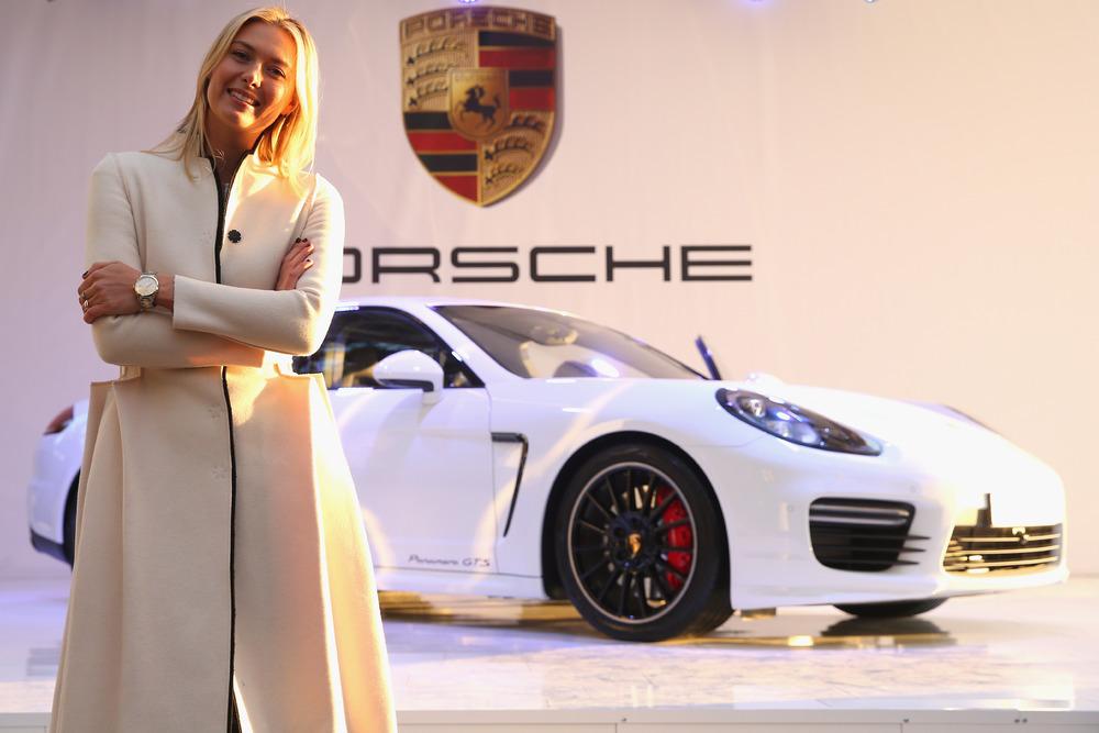 Maria Sharapova presents her Porsche Panamera GTS