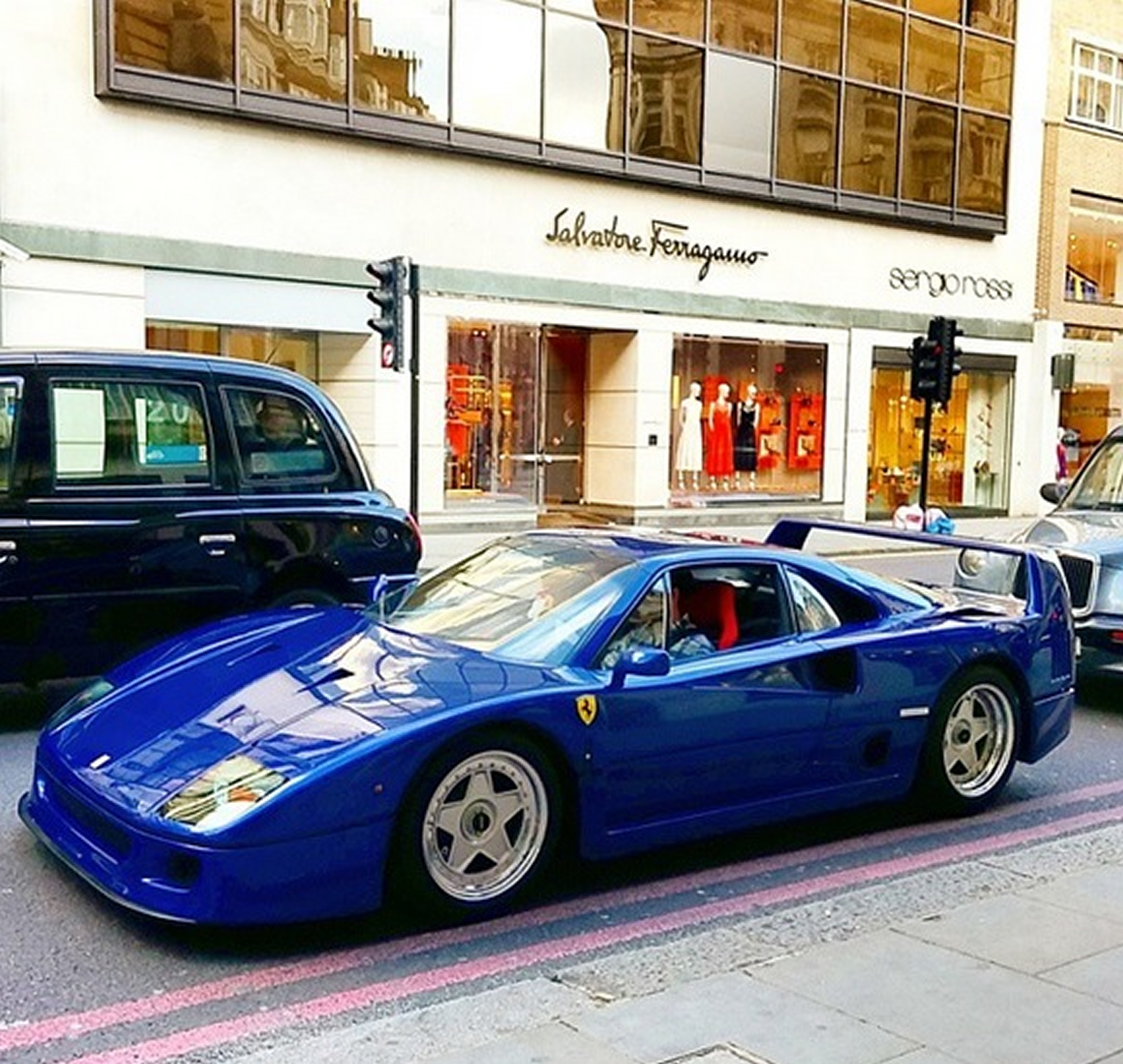 The Only Ferrari F40 In Aqua Blue Spotted Bhp Cars Performance Supercar News Information
