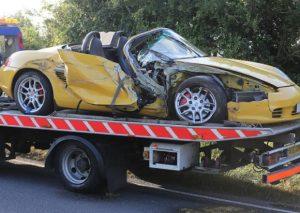 Porsche Boxster Crash