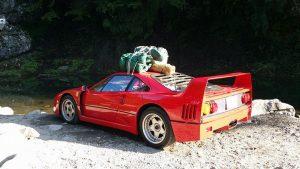 Ferrari F40 Goes Camping
