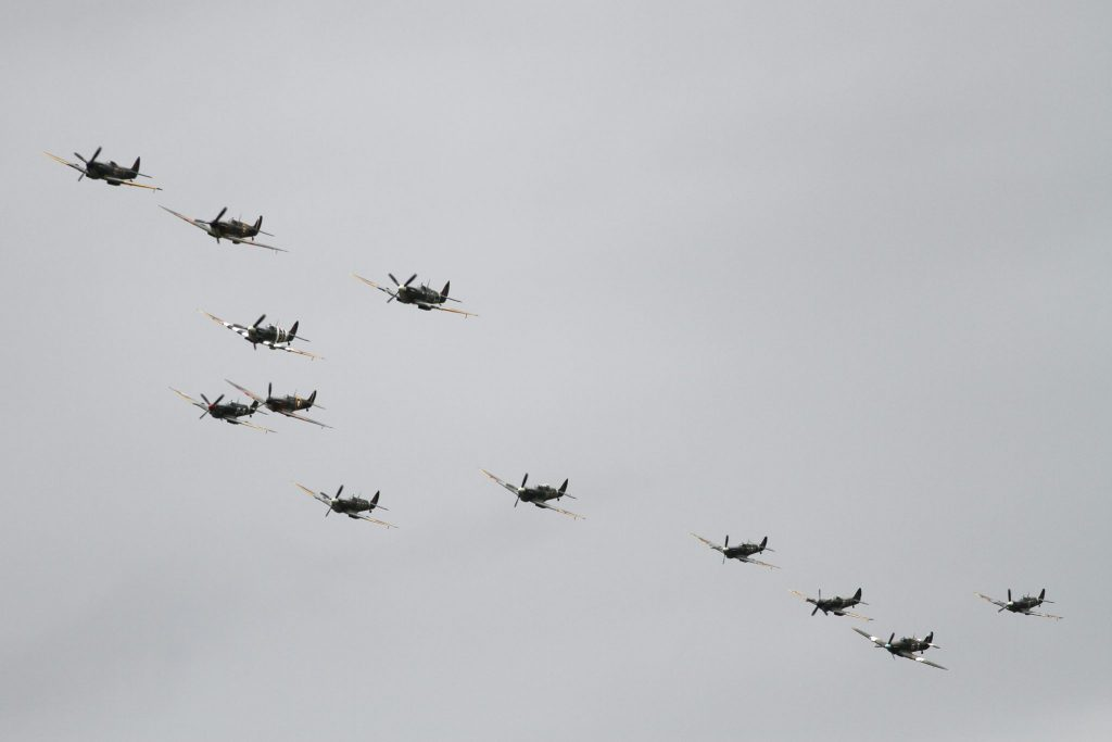 12 Spitfire flypast