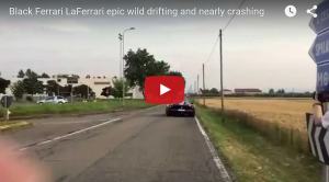 LaFerrari Powerslides Right Into Oncoming Traffic #Video