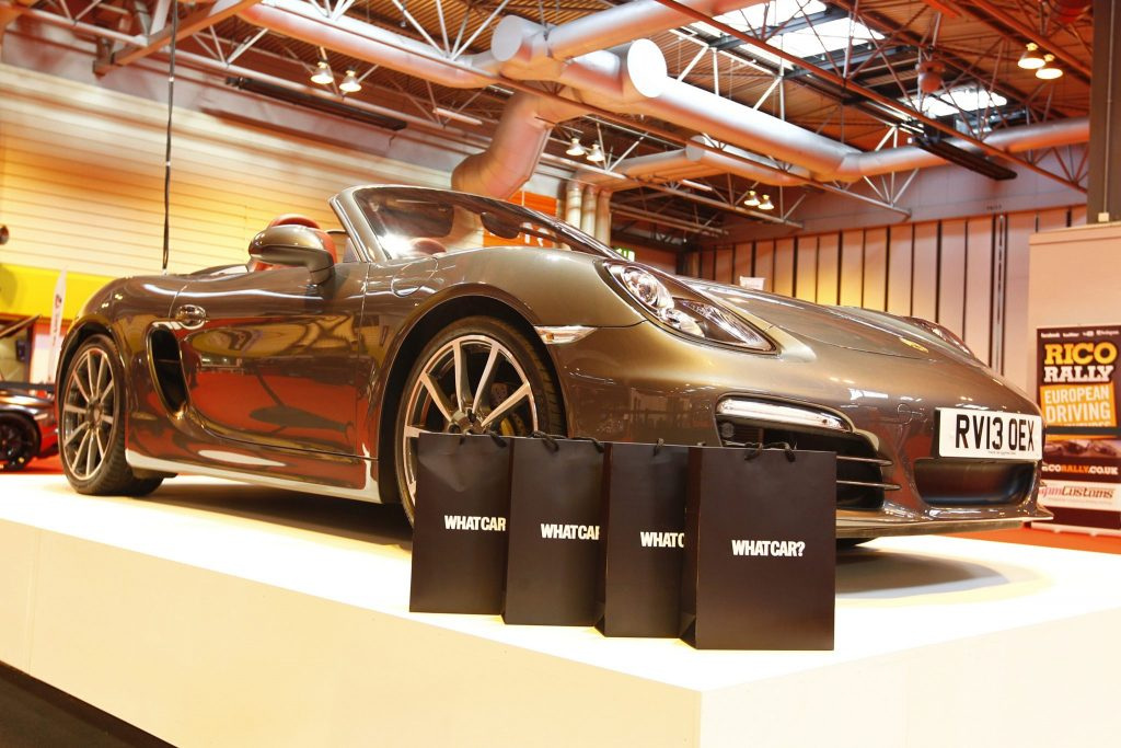 Autosport International Show NEC, Birmingham. Friday 10 January 2014. Porsche on the Whatcar stand. World Copyright:Alastair Staley/LAT Photographic ref: Digital Image _A8C0311