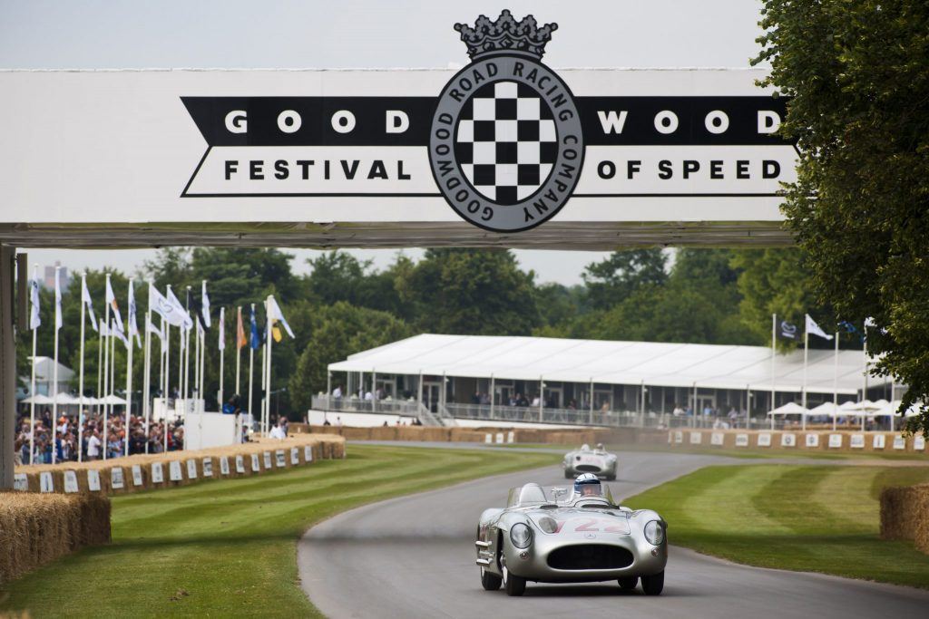 FoS 2015 drew an amazing line-up including this ex-Stirling Moss Mercedes