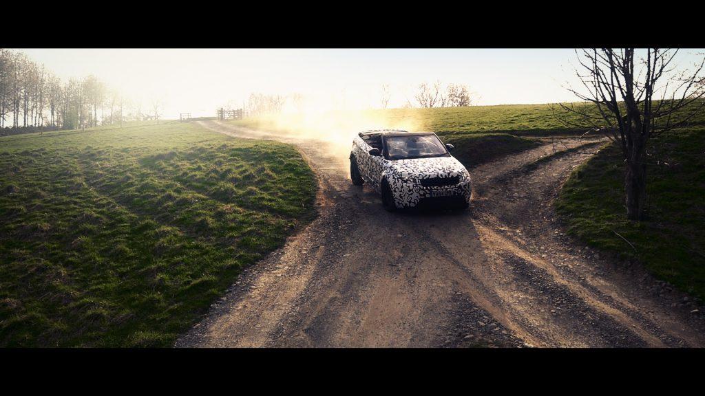 Range Rover Evoque Convertible testing at Eastnor (2)