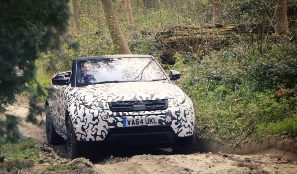 Range Rover Evoque Convertible testing at Eastnor (4)