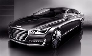 'New Luxury'takes Shape - Hyundai Motor Unveils Rendering Of New G90
