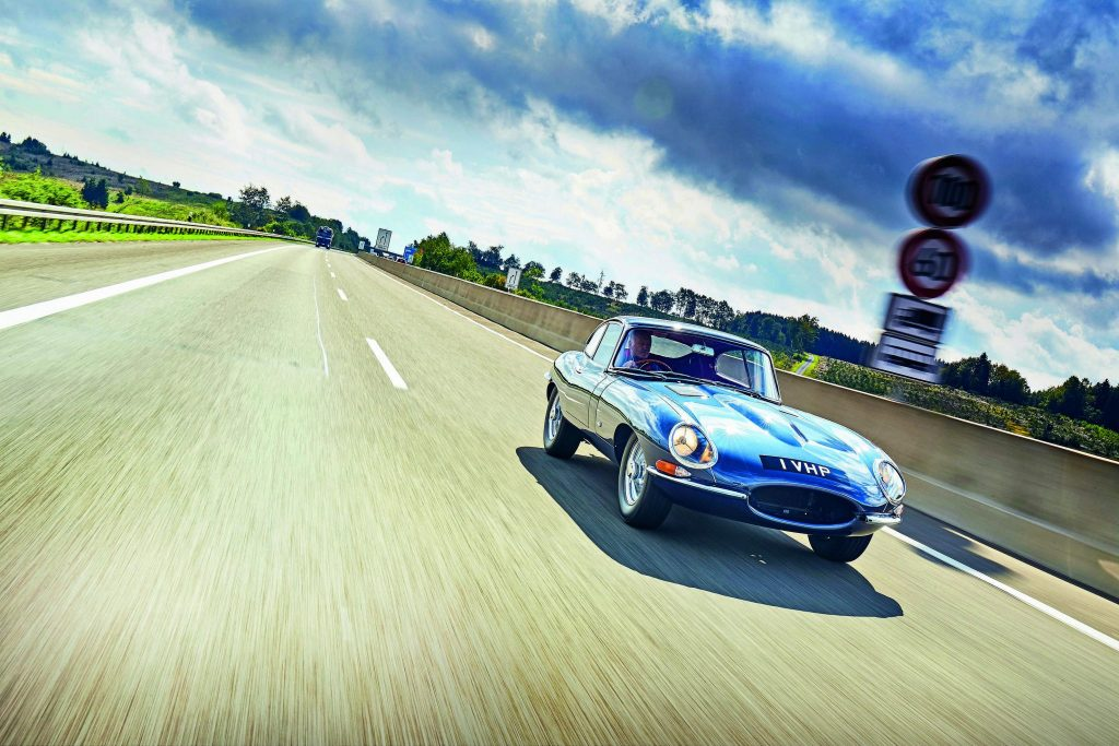 First Right Hand Drive Production Jaguar E-Type Driven To The Max?
