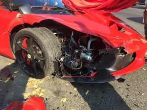 A Ferrari LaFerrari In Budapest Crashes