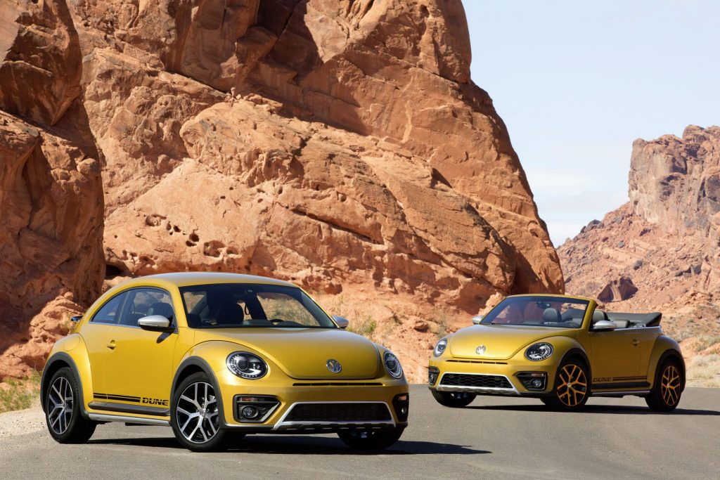The new Volkswagen Beetle Dune and Beetle Dune Cabriolet