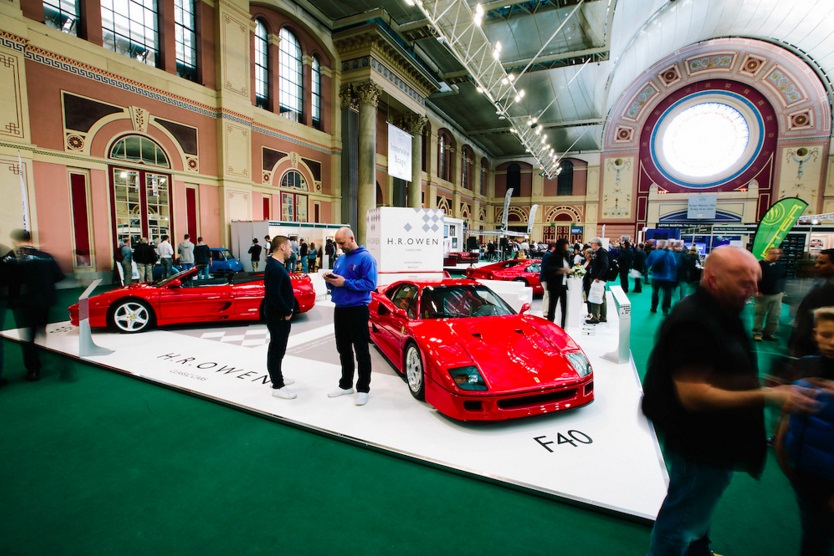 Visitors enjoy the Classic Cars offering on the H.R. Owen stand