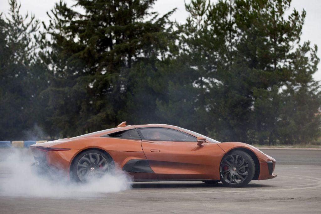 Felipe Massa Drives Bond Villain's Jaguar C-X75 Supercar In Mexico City