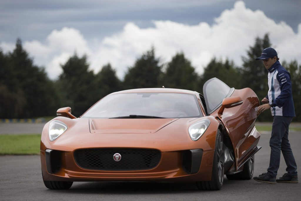 Felipe Massa Drives Bond Villain's Jaguar C-X75 Supercar In Mexico City