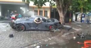 Lamborghini Street Racing Crash In Indonesia Leaves One Pedestrian Dead & Two Wounded