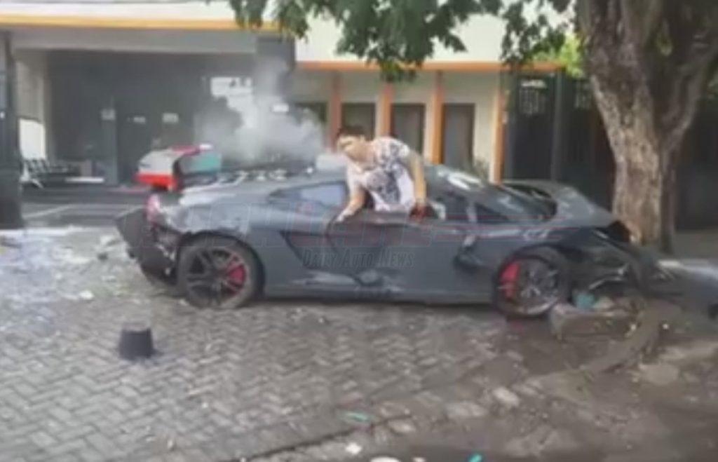 Lamborghini Accident Indonesia