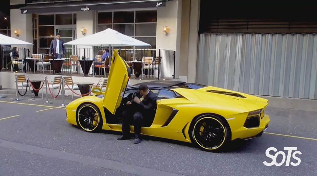 Valet Parking A Lamborghini Aventador