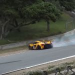 McLaren P1 GTR Manages To Avoid The Wall In Laguna Seca