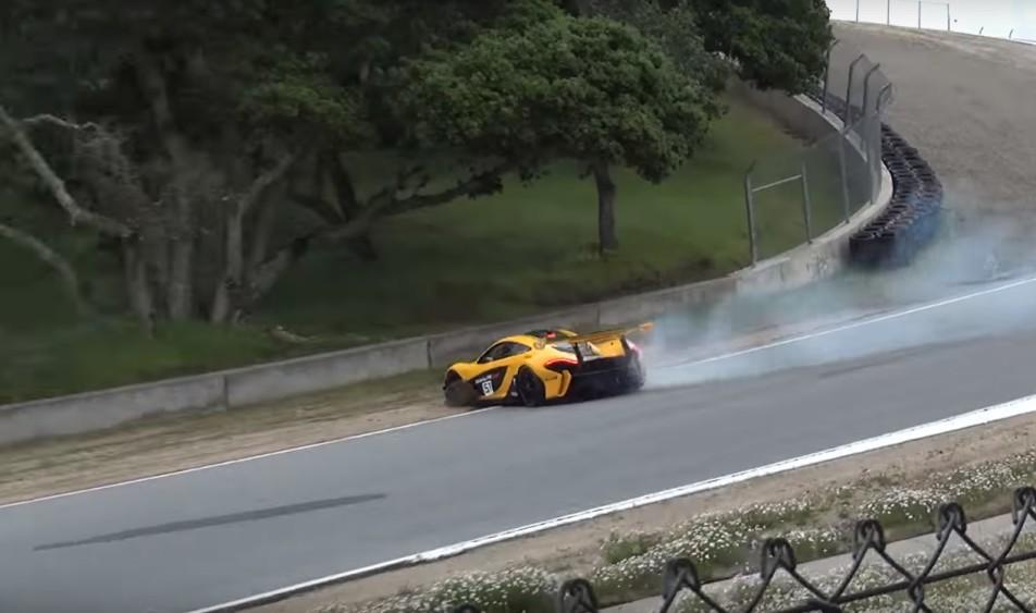 McLaren P1 GTR Crash