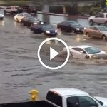 Lamborghini Gallardo Drives Through a Flood