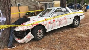 Toyota Supra Crash Halloween