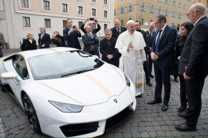 Holy Cow! The Pope's Lamborghini will be Up for Grabs!